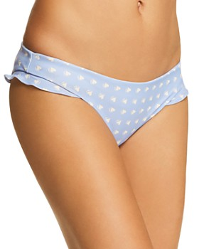 For Love & Lemons - Heart Throb Ruffle Bikini Bottom