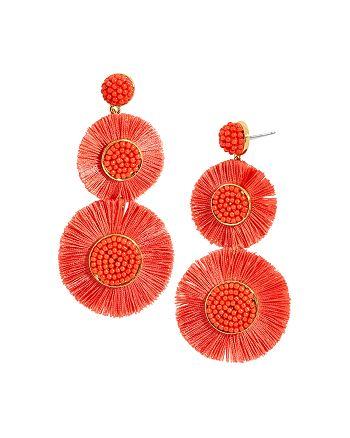 BAUBLEBAR - Mariette Fringed Discs Drop Earrings