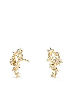David Yurman - Starburst Constellation Climber Earrings in 18K Gold with Diamonds