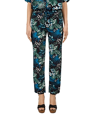 Gerard Darel Monica Tropical-Print Drawstring Pants