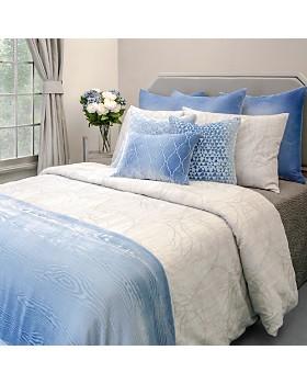 "Kevin O'Brien Studio - Triangles Velvet Decorative Pillow 18"" x 18"""