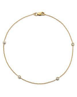 Bloomingdale's - Diamond Bezel Ankle Bracelet in 14 K t Yellow Gold, .20 ct. t.w.- 100% Exclusive