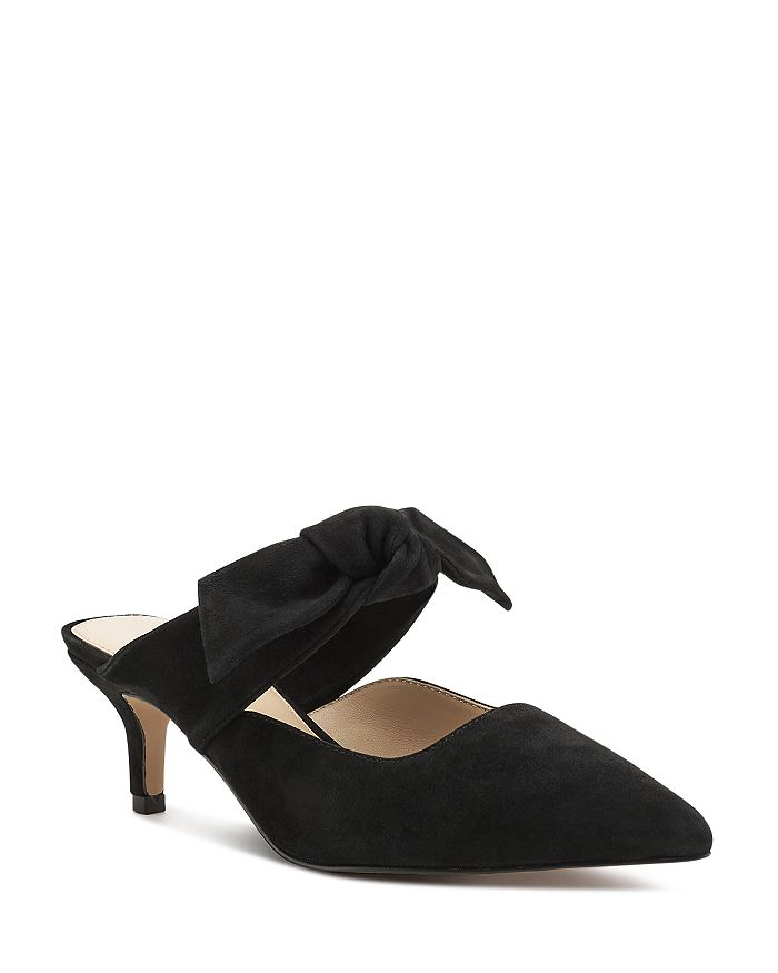 158a79b1bc Botkier Women's Pina Bow-Accented Suede Kitten Heel Mules ...