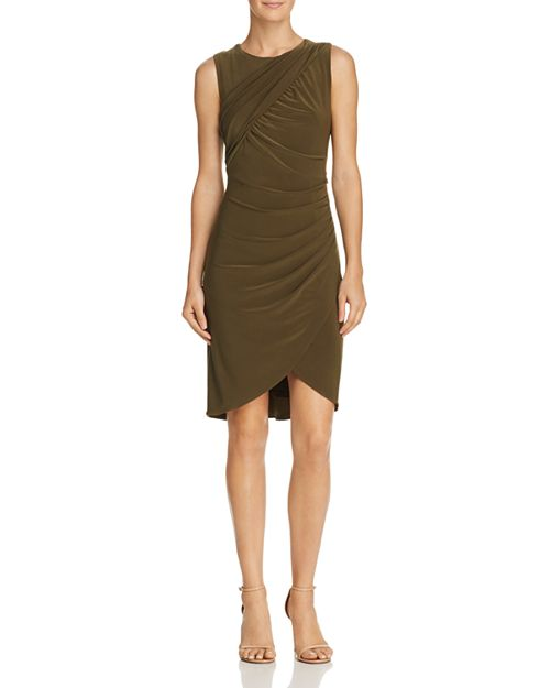 Adrianna Papell - Draped Jersey Sheath Dress