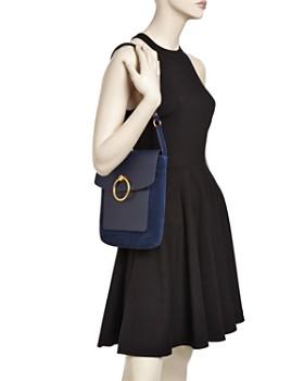 Tory Burch - Farrah Leather & Suede Shoulder Bag