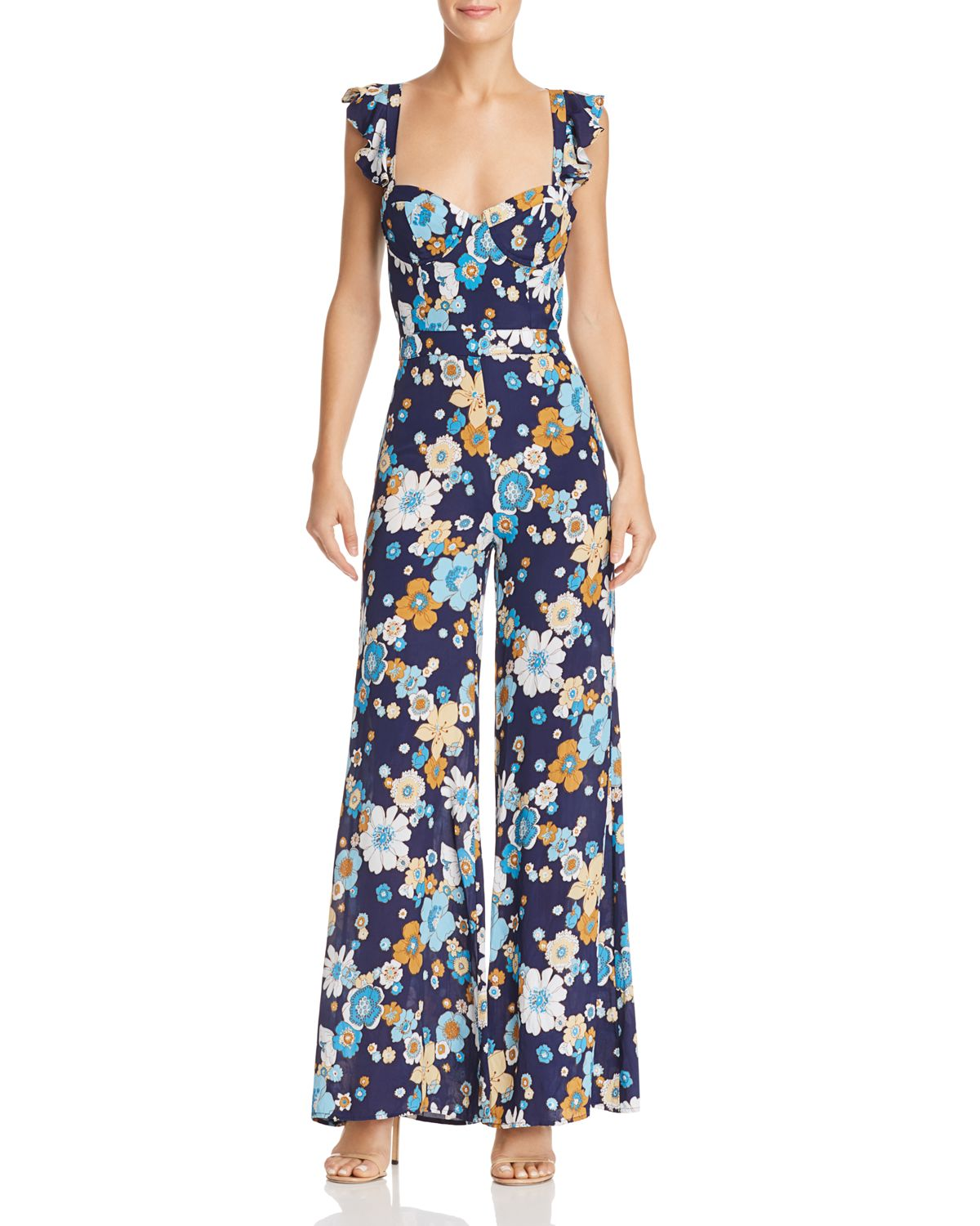 Magnolia Wide Leg Jumpsuit by For Love &Amp; Lemons