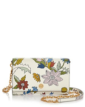 Tory Burch - Robinson Floral Leather Chain Wallet