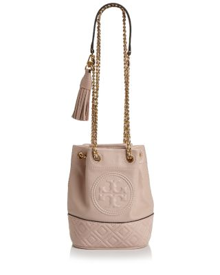 Fleming Small Leather Bucket Bag by Tory Burch