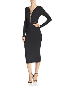 alexanderwang.t - Lace-Up Jersey Dress