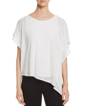 STATUS BY CHENAULT Status By Chenault Asymmetric Overlay Top in White