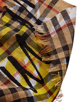 Burberry - Marker Printed Vintage Check Gauze Scarf