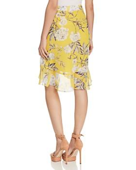 Lucy Paris - Floral Print Faux-Wrap Skirt