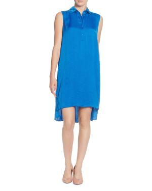 Stella Sleeveless High/Low Shirt Dress, Victoria Blue
