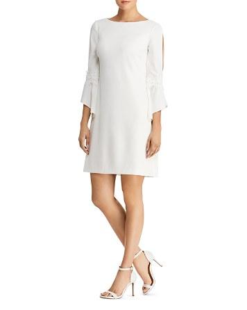 Lauren Ralph Lauren Petites Petites Bell-Sleeve Crepe Dress