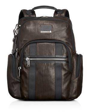 Alpha Bravo - Nellis Leather Backpack - Brown in Dark Brown