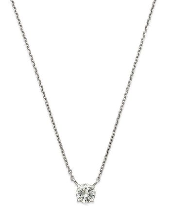Bloomingdale's - Diamond Solitaire Pendant Necklace in 14K White Gold, 0.50 ct. t.w. - 100% Exclusive