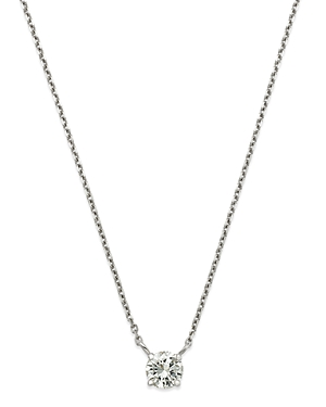 Bloomingdale's Diamond Solitaire Pendant Necklace in 14K White Gold, 0.50 ct. t.w. - 100% Exclusive