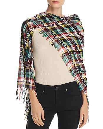 Burberry - Fringe Scribble Check Scarf