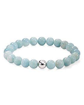 AQUA - Sterling Silver & Stone Beaded Stretch Bracelet - 100% Exclusive