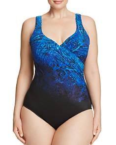 Miraclesuit Plus - Plus Mediterra It's A Wrap One Piece Swimsuit