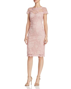 Tadashi Petites - Embroidered Lace Sheath Dress