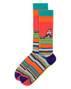 The Men's Store at Bloomingdale's Striped Telephone Socks - 100% Exclusive_0