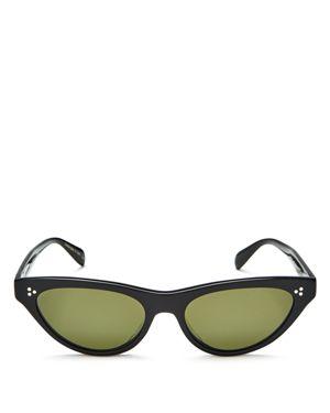 Zasia 53Mm Cat Eye Sunglasses - Black