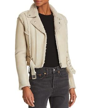 IRO.JEANS - Synal Shearling Moto Jacket