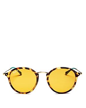 Ray-Ban Unisex Polarized Round Sunglasses, 52mm