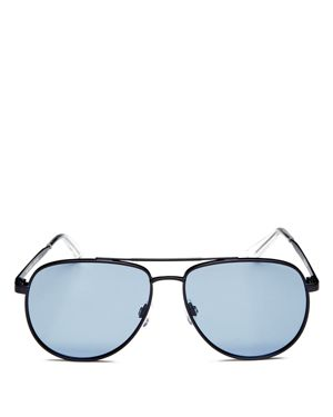 Hard Knock 57Mm Aviator Sunglasses - Matte Navy