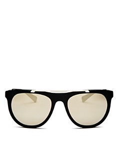Versace - Men's Brow Bar Mirrored Sunglasses, 56mm
