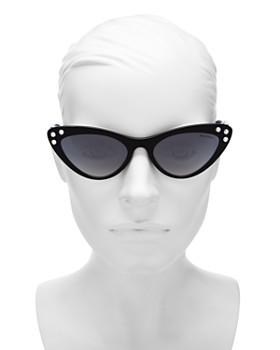 Miu Miu - Women's Embellished Mirrored Gradient Cat Eye Sunglasses, 55mm