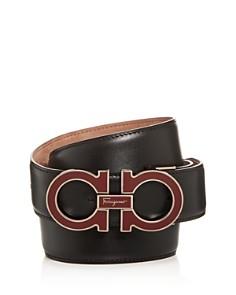 Salvatore Ferragamo Palomo Enamel Buckle Reversible Leather Belt - Bloomingdale's_0