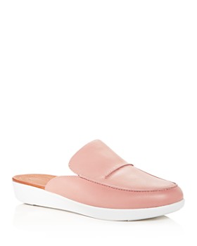 FitFlop - Women's Serene Leather Smoking Slipper Platform Mules