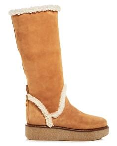 Salvatore Ferragamo - Bonne Shearling Platform Boots