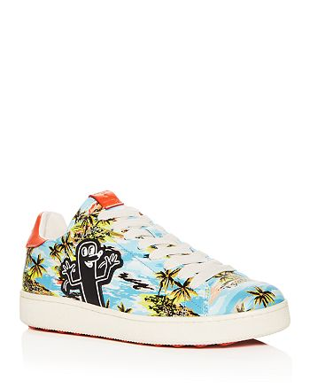 0ba3ffe34e9c ... reduced coach x keith haring mens c101 tropical print leather sneakers  b0d2d e8f6e