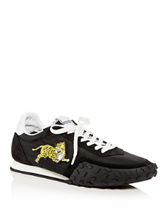 Kenzo - Women's Tiger Appliqué Quilted Lace Up Sneakers