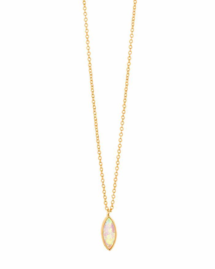 "Gorjana - Rumi Pendant Adjustable Necklace, 18"""