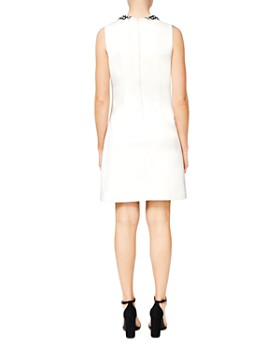 Betsey Johnson - Embellished-Collar Scuba Crepe Shift Dress