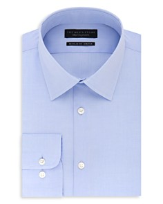 The Men's Store at Bloomingdale's Solid Stretch Regular Fit Dress Shirt - 100% Exclusive_0