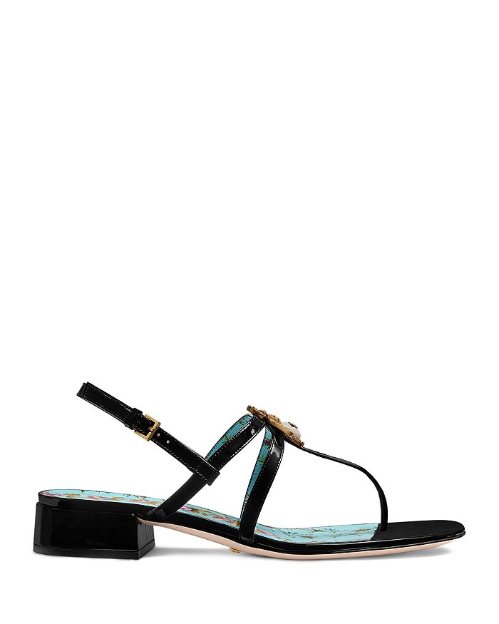 d117c33a68a Gucci - Women s Patent Leather Bee Sandals