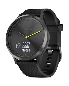 Garmin - vivomove HR Sport Hybrid Black Smartwatch, 43mm