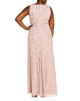 Adrianna Papell Plus - Beaded Halter Gown