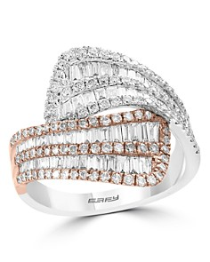 Bloomingdale's - Diamond Crossover Ring in 14K Rose & White Gold, 1.50 ct. t.w. - 100% Exclusive