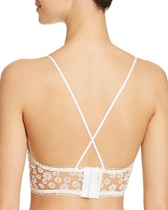 For Love & Lemons - Ditzy Daisy Embroidered Lace Up Bustier