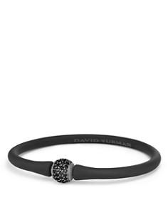 David Yurman - Spiritual Beads Rubber Bracelet with Black Diamond