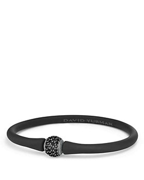 David Yurman - Spiritual Beads Rubber Bracelet with Black Diamond