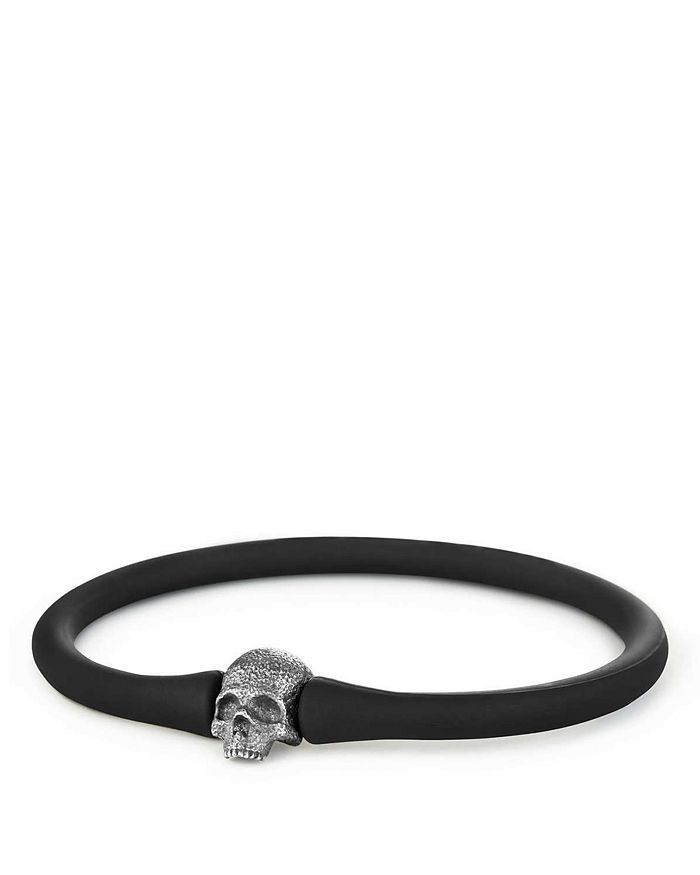 David Yurman - Exotic Stone Skull Rubber Bracelet