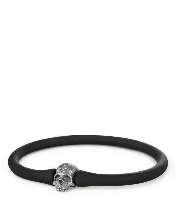 David Yurman Exotic Stone Skull Rubber Bracelet  | Bloomingdale's