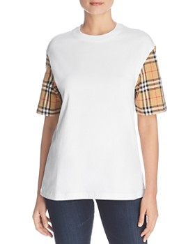 8ec2002d25c Burberry - Serra Check-Sleeve Tee ...